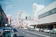 CS00959-01. Tulare St., Fresno, California, T W Patterson building, 2014 Tulare St., ca 1952-55.