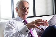 Brussels  Belgium June 18 2019. Portraits of former Primer Minister of the United Kingdom Tony Blair