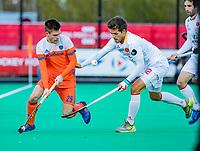 ROTTERDAM - Thierry Brinkman (NED) met Joan Tarres (Spain)  tijdens   de Pro League hockeywedstrijd heren, Nederland-Spanje (4-0) . COPYRIGHT KOEN SUYK