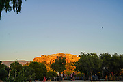 Greece, Athens, Acropolis hill as seen at sunset