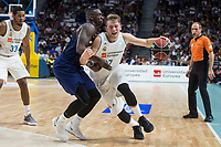 Real Madrid Luka Doncic and FC Barcelona Lassa Kevin Seraphin during Liga Endesa match between Real Madrid and FC Barcelona Lassa at Wizink Center in Madrid, Spain. November 12, 2017. (ALTERPHOTOS/Borja B.Hojas)