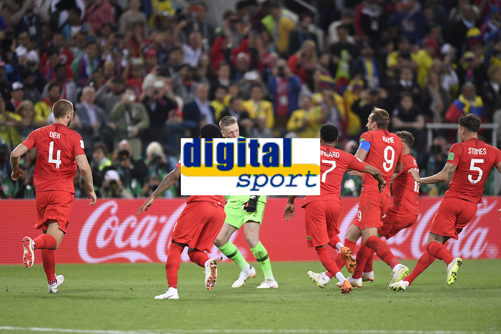 01 JORDAN PICKFORD (ANG) - JOIE FOOTBALL : Colombie vs Angleterre - Coupe du Monde 2018 - 1/8 de Finale - 03/07/2018 AnthonyBIBARD/FEP/Panoramic PUBLICATIONxNOTxINxFRAxITAxBEL