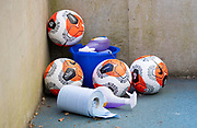 20th June 2020, American Express Stadium, Brighton, Sussex, England: Premier League football, Brighton v Arsenal.<br /> Offical match balls to be sanitized.
