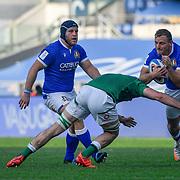 Roma 27/02/2021, Stadio Olimpico<br /> Guinness Six Nations 2021<br /> Italia vs Irlanda <br /> <br /> Callum Braley placcato da Will Connors