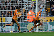 Wolverhampton Wanderers midfielder Dave Edwards celebrates opening goal during the Sky Bet Championship match between Wolverhampton Wanderers and Middlesbrough at Molineux, Wolverhampton, England on 24 October 2015. Photo by Alan Franklin.