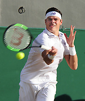 Tennis - 2017 Wimbledon Championships - Week Two, Monday [Day Seven]<br /> <br /> Men's Singles, Fourth Round<br /> <br /> Milos Raonic (CAN) vs. Alexander Zverev (GER)<br /> <br /> Milos Raonic on Court 2<br /> <br /> COLORSPORT/ANDREW COWIE