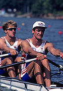 Atlanta, USA. GBR M2X,  Bow Bobby THATCHER and Guy POOLEY, 1996 Olympic Rowing Regatta Lake Lanier, Georgia [Mandatory Credit Peter Spurrier/ Intersport Images]
