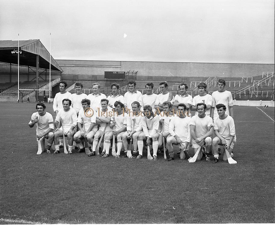 04/10/1970<br /> 10/04/1970<br /> 10 April 1970<br /> All-Ireland Intermediate Hurling Final: Antrim v Warwickshire at Croke Park, Dublin.<br /> The Warwickshire team All-Ireland Intermediate Hurling Final against Warwickshire.