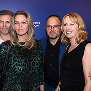 NLD/Amsterdam/20190322  - Boekenbal 2019, Simone van der Vlugt en partner Wim van der Vlugt <br /> en Esther Verhoef met partner