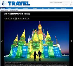 The Telegraph trave;Harbin Ice sculpture festival