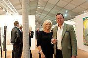 JENNIFER GUERRINI-MARALDI; FILIPPO GUERRINI-MARALDI, Opening of ARTLondon 2010. Royal Hospital.  Royal Hospital Rd. London. 6 October 2010.  -DO NOT ARCHIVE-© Copyright Photograph by Dafydd Jones. 248 Clapham Rd. London SW9 0PZ. Tel 0207 820 0771. www.dafjones.com.