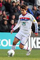 FOOTBALL - FRENCH CUP 2011/2012 - 1/8 FINAL - OLYMPIQUE LYONNAIS v GIRONDINS DE BORDEAUX - 08/02/2012 - PHOTO EDDY LEMAISTRE / DPPI - YOANN GOURCUFF (OL)