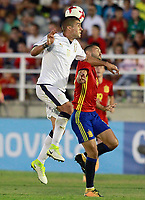 Spain's Alfonso (r) and Italy's Mancini during international sub 21 friendly match. September 1,2017.(ALTERPHOTOS/Acero)