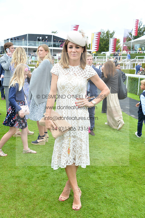 Natalie Pinkham at the Qatar Goodwood Festival, Goodwood, West Sussex England. 3 August 2017.<br /> Photo by Dominic O'Neill/SilverHub 0203 174 1069 sales@silverhubmedia.com