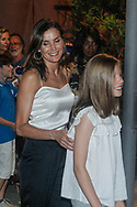 Queen Letizia and princess Sofia attend Ara Malikian concert at Port Adriano in Palma de Mallorca, Spain on 1st of August of 2018.