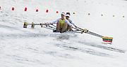 Poznan, POLAND. Women's Double Sculls, LTU W2X, Bow: Donata VISTARAITE and Milda VALCIUKAITE, competiting the heats, at the 2015 FISA European Rowing Championships. Venue, Lake Malta. Friday 29.05.2015. [Mandatory Credit: Peter Spurrier/Intersport Images]