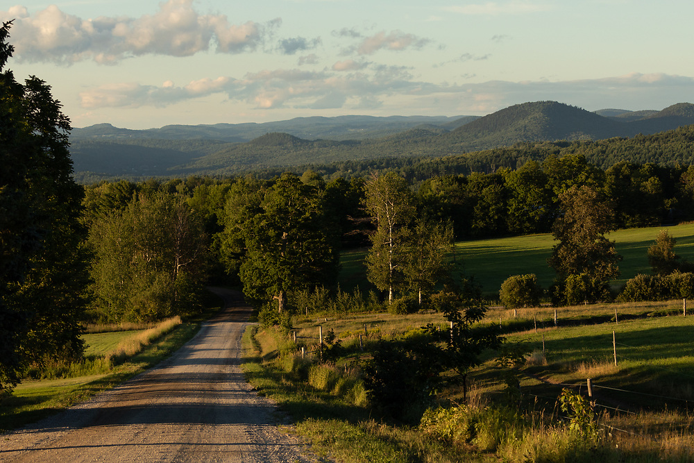 The rolling hills of Vermont seen from the mountain roads of Plainfield.