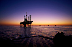 Stock photo of a jack up drilling rig