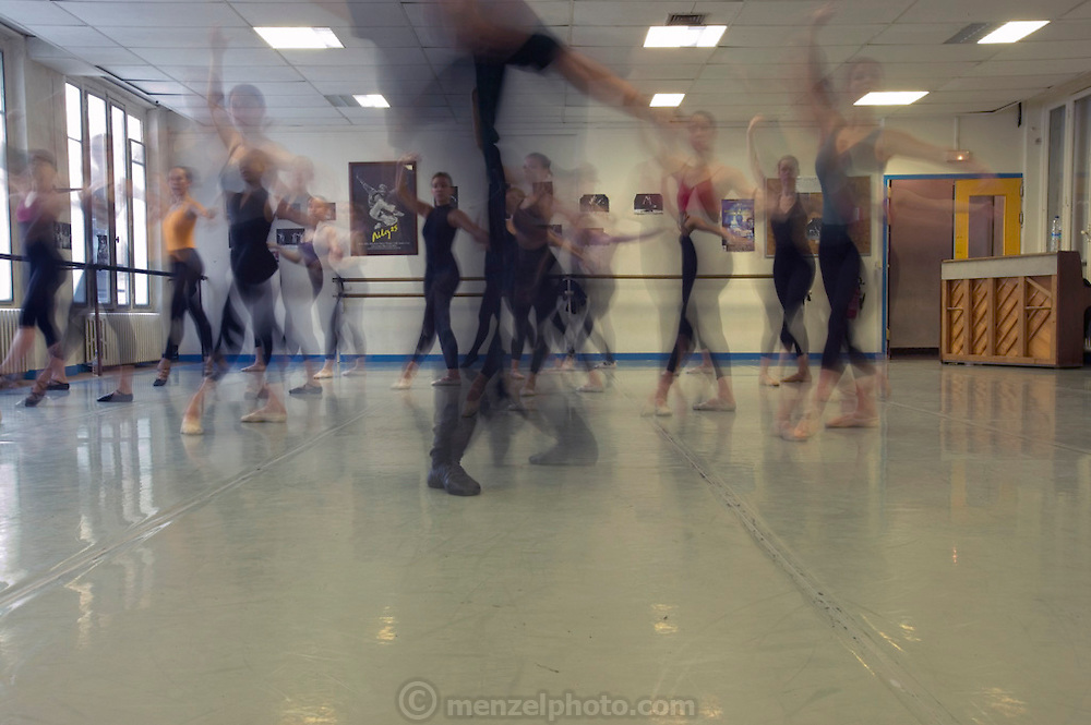Delphine Le Moine's  ballet class at the Centre International de Danse Jazz Rick Odums. (Supporting image from the project Hungry Planet: What the World Eats.)