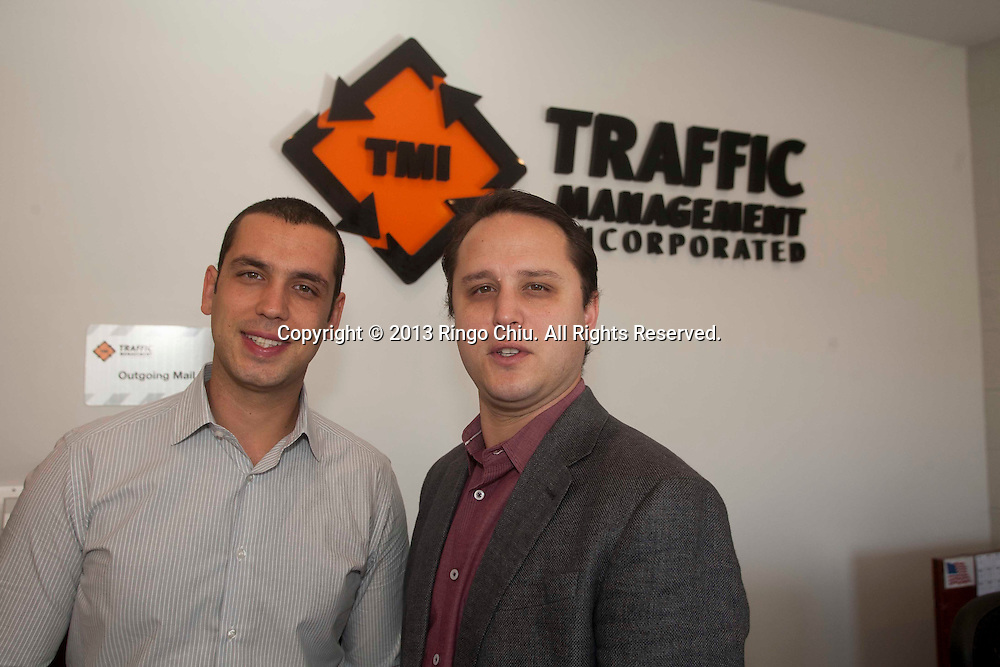 Brothers Jonathan, left, and Chris Spano, owners of Traffic Management Inc. (Photo by Ringo Chiu/PHOTOFORMULA.com)