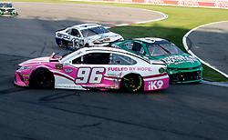 September 30, 2018 - Charlotte, NC, U.S. - CHARLOTTE, NC - SEPTEMBER 30: #96: Jeffrey Earnhardt, Gaunt Brothers Racing, Toyota Camry American Soldier Network \ Xtreme Concepts #8: Daniel Hemric, Richard Childress Racing, Chevrolet Camaro Smokey Mountain Herbal Snuff #13: Ty Dillon, Germain Racing, Chevrolet Camaro GEICO during the running of the Inagural Bank of America ROVAL 400 on Sunday September 30, 2018 at Charlotte Motor Speedway in Concord North Carolina  (Photo by Jeff Robinson/Icon Sportswire) (Credit Image: © Jeff Robinson/Icon SMI via ZUMA Press)