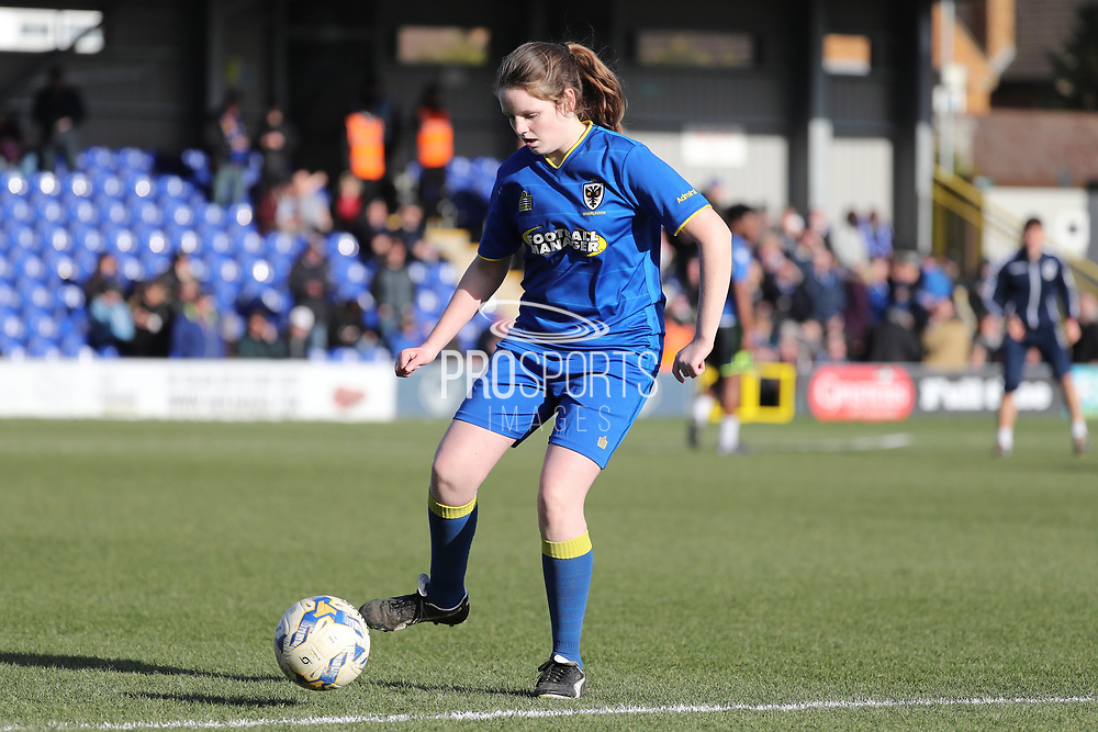*** during the EFL Sky Bet League 1 match between AFC Wimbledon and Bristol Rovers at the Cherry Red Records Stadium, Kingston, England on 17 February 2018. Picture by Matthew Redman.