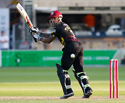 Somerset's Peter Trego guides one down to fine leg<br /> <br /> Photographer Simon King/Replay Images<br /> <br /> Vitality Blast T20 - Round 1 - Somerset v Gloucestershire - Friday 6th July 2018 - Cooper Associates County Ground - Taunton<br /> <br /> World Copyright © Replay Images . All rights reserved. info@replayimages.co.uk - http://replayimages.co.uk