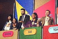 Andrew, Simone, Rylan Clark-Neal, Susan Evans & Tom Barber, Big Brother 2017 - Live Launch Show, Elstree Studios, Elstree UK, 05 June 2017, Photo by Brett D. Cove