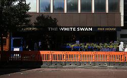 15 September 2017 - Arsenal v FC Koln - The White Swan Wetherspoons pub back in order after being swarmed with FC Koln fans - Photo: Charlotte Wilson / Offside