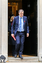 © Licensed to London News Pictures. 29/10/2019. London, UK. Secretary of State for Northern Ireland JULIAN SMITH departs from No 10 Downing Street after attending the weekly cabinet meeting. Photo credit: Dinendra Haria/LNP