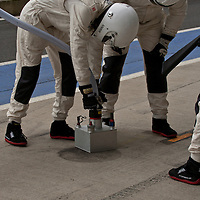 In the Porsche pits at Silverstone 6h, 2014
