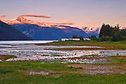 Alaska, Haines, Lutak Inlet, Landscape, Sunse