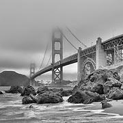 Northern California Coast (B/W)