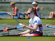 Chungju, South Korea,   USA. W8+. stroke Caroline LIND. [With Factor 50 Applied] 2013 FISA World Rowing Championships,  at the Tangeum Lake International Regatta Course. 11:57:48  Monday  26/08/2013 [Mandatory Credit. Peter Spurrier/Intersport Images]