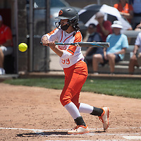 Adrianna Lynn bats for the Gallup Bengals during their NMAA Class 4A Softball State Championship game against the Artesia Bulldogs Saturday in Albuquerque.
