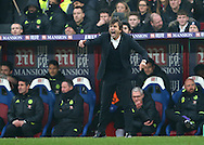 Chelsea's Antonio Conte in action during the Premier League match at Selhurst Park Stadium, London. Picture date December 17th, 2016 Pic David Klein/Sportimage