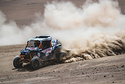 Chaleco Lopez (CHL) of South Racing CAN AM races during stage 4 of Rally Dakar 2019 from Arequipa to Tacna, Peru on January 10, 2019. // Flavien Duhamel/Red Bull Content Pool // AP-1Y3A5W9FH2111 // Usage for editorial use only // Please go to www.redbullcontentpool.com for further information. //