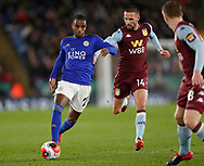 Ricardo Pereira of Leicester City chased by Conor Hourihane of Aston Villa during the Premier League match at the King Power Stadium, Leicester. Picture date: 9th March 2020. Picture credit should read: Darren Staples/Sportimage
