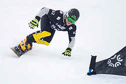 Vincent Chaix (FRA) during Final Run at Parallel Giant Slalom at FIS Snowboard World Cup Rogla 2019, on January 19, 2019 at Course Jasa, Rogla, Slovenia. Photo byJurij Vodusek / Sportida