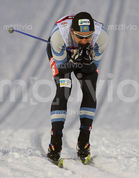 Sapporo , 220207 , Nordische Ski Weltmeisterschaft  Sprintrennen der Maenner ,  Yevgeniy KOSCHEVOY (KAZ)