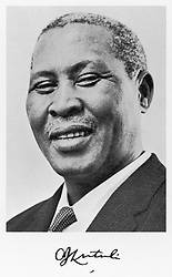 ALBERT JOHN MVUMBI LUTHULI or LUTULI  South African reformer, President of the African  National Congress (1952-60)     Date: 1898 - 1967 (Credit Image: © Mary Evans via ZUMA Press)