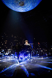 May 6, 2017 - Assago, Milan, Italy - The Canadian singer and song-writer Shawn Mendes pictured on stage as he performs at Mediolanum Forum Assago. (Credit Image: © Roberto Finizio/Pacific Press via ZUMA Wire)