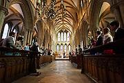 Melissa & Ben's wedding at Southwell Minster, Nottinghamshire.