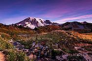 Sunrise at Edith Creek in Mount Rainer National Park