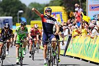 Sykkel<br /> Foto: imago/Digitalsport<br /> NORWAY ONLY<br /> <br /> Sondre Holst ENGER ( MOR / IAM Cycling Team ) gewinnt die erste Etappe der Oesterreich Rundfahrt im Massensprint - Finish - Jubel - Freude - Emotionen - Aktion - Rennszene - Querformat - quer - horizontal - Event / Veranstaltung: Oesterreich Rundfahrt 2015 - Stage 1 / 1.Etappe: Moerbischer Festspiele nach Scheibbs 206.06 km - Location / Ort: Scheibbs - Austria - Oesterreich - Europe - Europa - Date / Datum: 05.07.2015