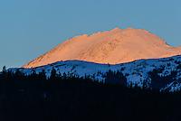 Sunrise on a Yukon mountain near Carcross