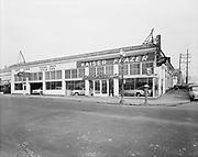"""Ackroyd 03408-3. """"Kaiser Frazer Corp. Tonkin Motor Co. February 6, 1952"""" store at SE Grand at Oak."""