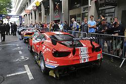 June 11, 2018 - Le Mans, FRANCE - 52 AF CORSE (ITA) FERRARI 488 GTE EVO GTE PRO TONI VILANDER (FIN) ANTONIO GIOVINAZZI (ITA) LUIS FELIPE DERANI  (Credit Image: © Panoramic via ZUMA Press)