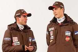 Jernej Damjan and Jurij Tepes during media day of Ski Association of Slovenia before new winter season 2012/13, on October 13, 2012, in Cerklje na Gorenjskem, Slovenia. (Photo by Vid Ponikvar / Sportida)