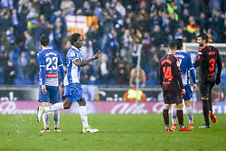 February 4, 2018 - Barcelona, Catalonia, Spain - Carlos ''La Roca'' Sanchez during the match between RCD Espanyol vs FC Barcelona, for the round 22 of the Liga Santander, played at Cornella -El Prat Stadium on 4th February 2018 in Barcelona, Spain. (Credit Image: © Urbanandsport/NurPhoto via ZUMA Press)